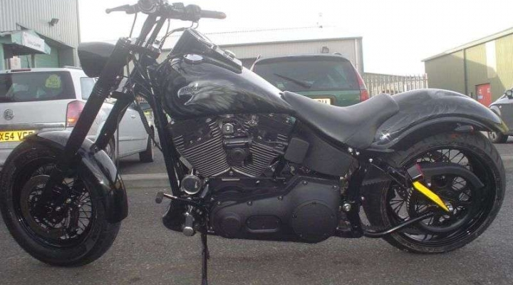 Blacked Out Softail