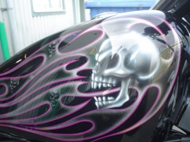 Skull Flames Paintwork