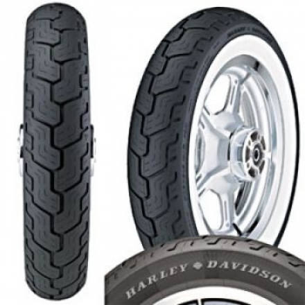 Dunlop D402 MT90 B16 Rear Wide White Wall Tyre