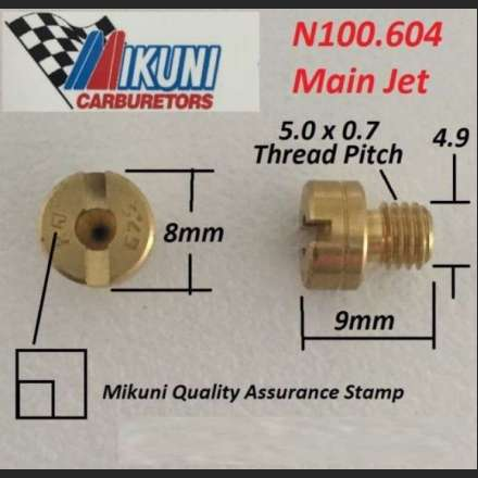 A selection of carburettor jets for Keihin, Mikuni, S&S